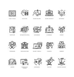 Video tutorials training courses online vector image
