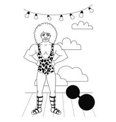 Vintage circus collection vector