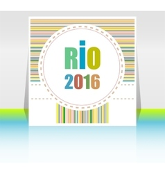 Sign symbol rio olympics games 2016 in colors of vector