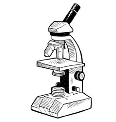 Doodle microscope vector