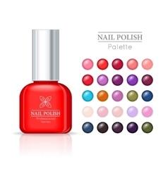 Nail polish pallet women accessories nail vector