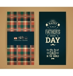 Happy Father s Day Card In Retro Style vector image