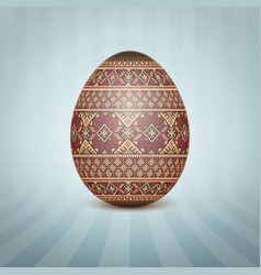 the easter egg with an ukrainian vector image
