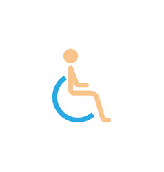Handicapped and invalid solid icon vector