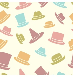 Seamless pattern of hats vector
