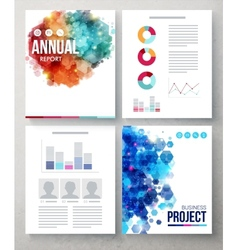 Business documents with abstract graphic designs vector