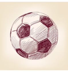 Soccer ball hand drawn llustration realistic vector