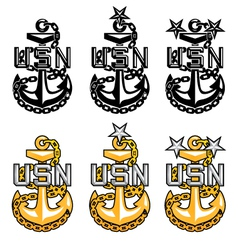 US Navy CPO Anchors vector image
