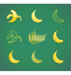 Banana sign vector
