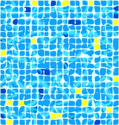 Blue ceramic tiles vector