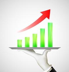 financial charts Stock vector image