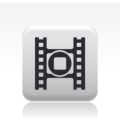 Video stop icon vector
