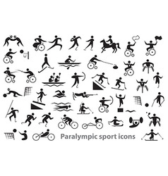 Paralympic sport icons vector