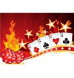 Hot Casino vector image