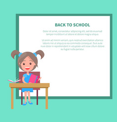 back to school with schoolgirl vector image