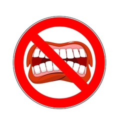 Ban cry it is forbidden to shout and swear vector