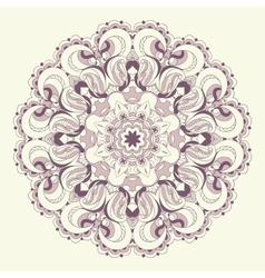 Beautiful purple lace pattern background vector image