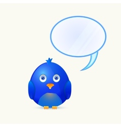 Bird with bubble chat box vector