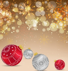 Christmas celebration greeting card or background vector