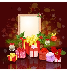 Christmas ornament frame vector