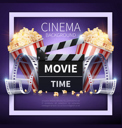 cinema poster online movies and vector image vector image