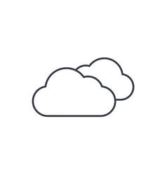 Cloudy weather thin line icon linear vector