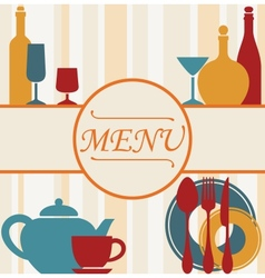 Design of restaurant menu background vector image