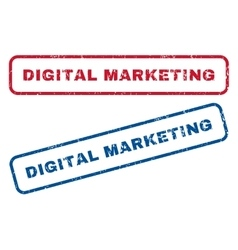 Digital marketing rubber stamps vector