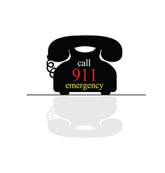 emergency call phone vector image