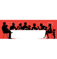 family dinner vector image vector image