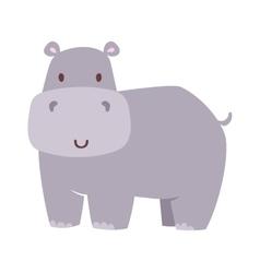 Fun hippo vector image