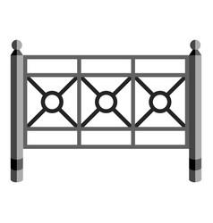 Garden fence icon cartoon style vector