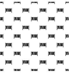 Glass gate pattern vector