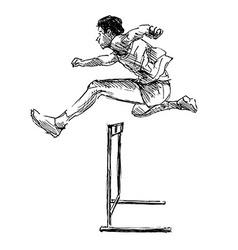 Hand sketch steeplechase vector image