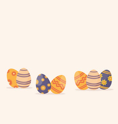 Happy easter egg greeting card vector