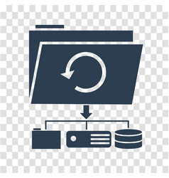 icon backup day silhouette vector image vector image