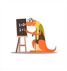 Kangooro math teacher vector