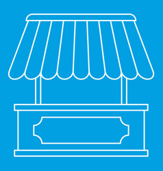 Kiosk icon outline style vector