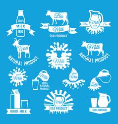 labels set of fresh milk for vector image vector image