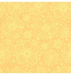 Light yellow vintage flowers vector