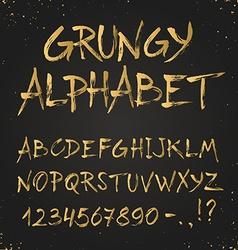 Modern alphabet vector image vector image