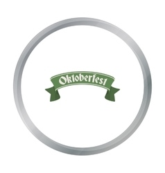 Oktoberfest banner icon in cartoon style isolated vector