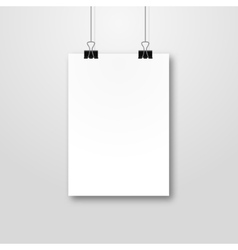 Paper poster pockup design paper sheet blank vector
