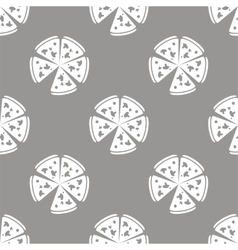 Pizza seamless pattern vector