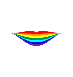 Rainbow lips sign 704 vector