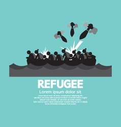 Refugee Graphic Symbol vector image vector image