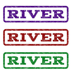 river watermark stamp vector image