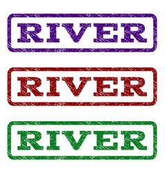 River watermark stamp vector