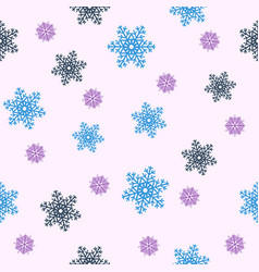 Seamless christmas backgroundblue snowflakes vector