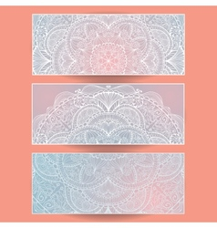 set of abstract banners EPS10 vector image vector image